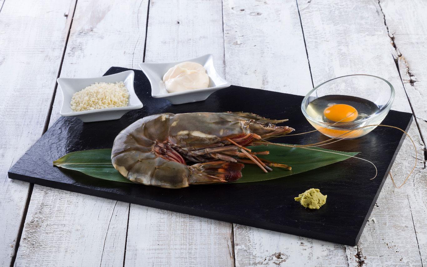 langostino jumbo con panko y wasabi